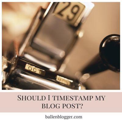 Should You Timestamp Your Blog Posts?