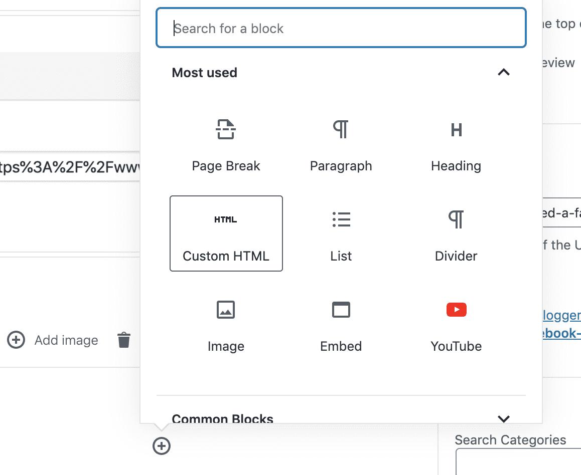 On Your WordPress Blog Post, Add a New HTML Block