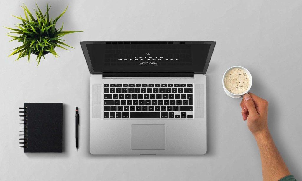 laptop, coffee, arm