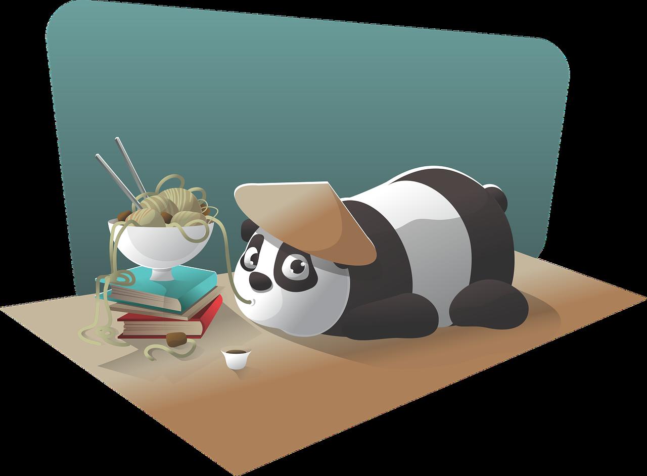 panda, character, chinese