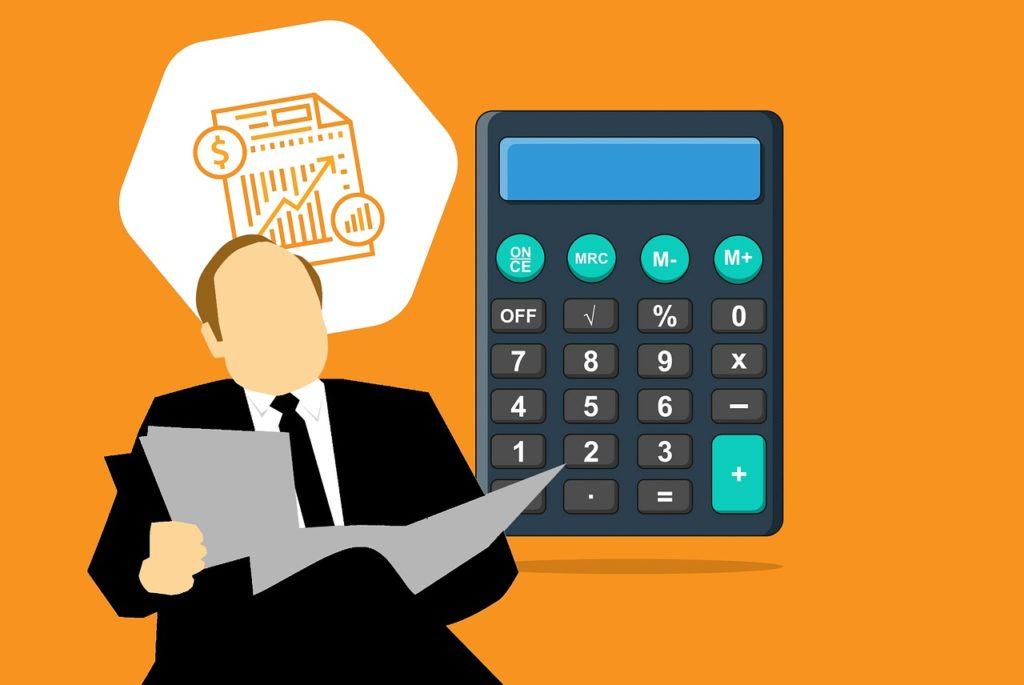 accountant, calculator, accounting