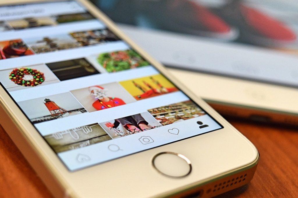 instagram, cell phone, tablet