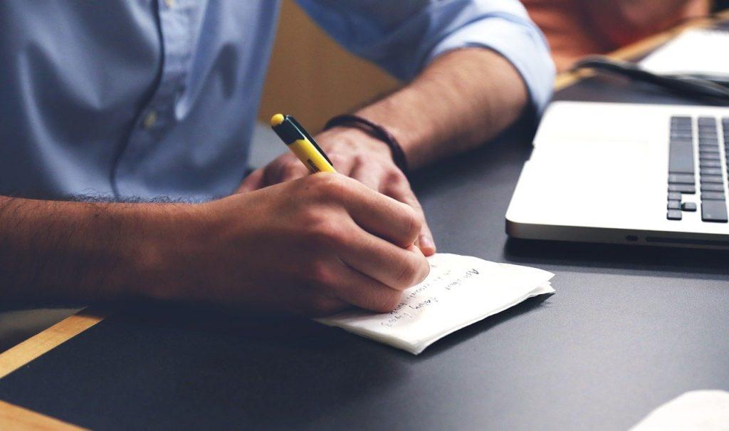 man, write, plan