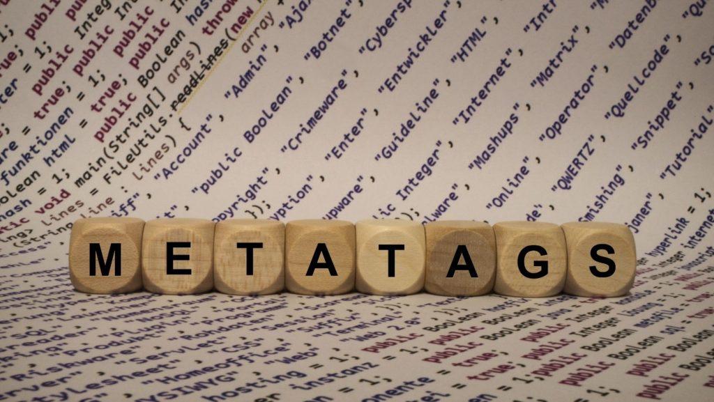 metatags is written in blocks