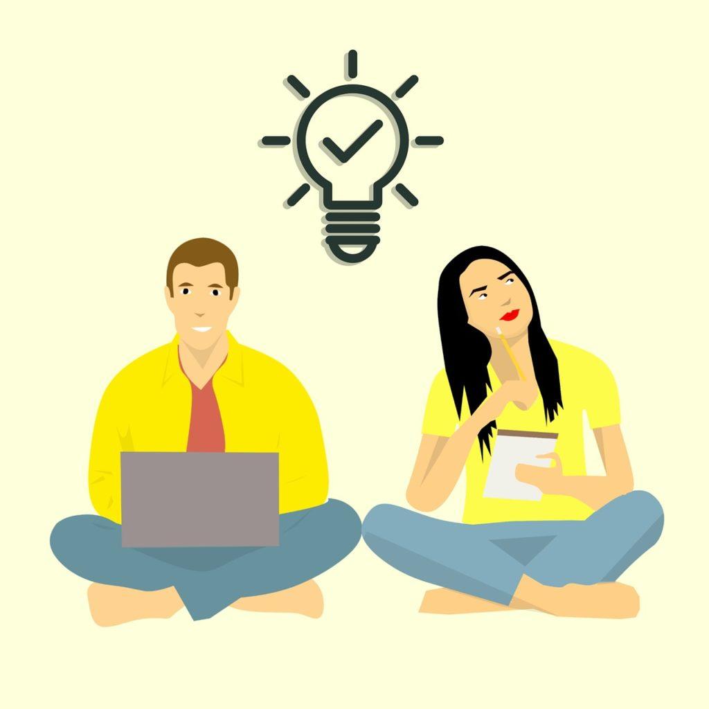 computer, thinking, ideas, making money, taking notes