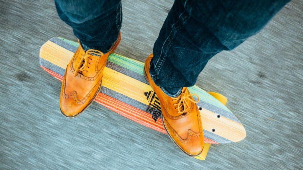 cool new skateboard